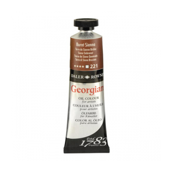 Daler Rowney Georgian 221 Burnt Sienna 38 ML Yaðlýboya