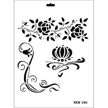 Rich New 106 Stencil (Kolay Boyama Þablonu )