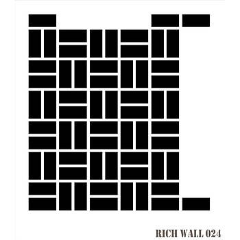 Rich Wall 024 Duvar Desen Stencil (Kolay Boyama Þablonu )