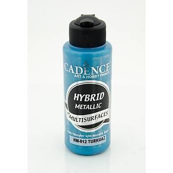 Cadence 120 ml 812 Metalik Turkuaz Hibrid Multisurface  boya