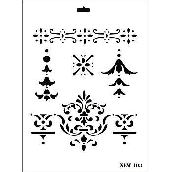 Rich New 103 Stencil (Kolay Boyama Þablonu )