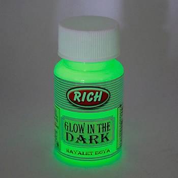 Rich 50 ML  3004 Yeþil Karanlýkta Parlayan (Glow In The Dark ) Hayalet Boya