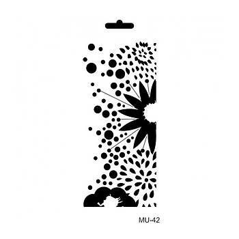 Cadence MU -42 Mix Media  Stencil (Kolay Boyama Þablonu )