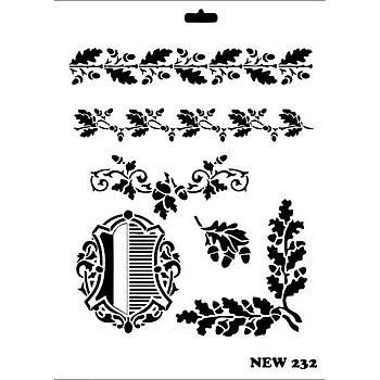 Rich New 232  Stencil (Kolay Boyama Þablonu )