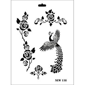 Rich New 138 Stencil (Kolay Boyama Þablonu )