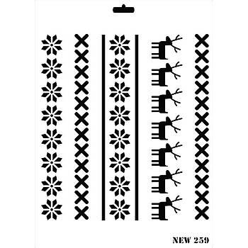 Rich New 259  Stencil (Kolay Boyama Þablonu )