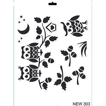 Rich New 303  Stencil (Kolay Boyama Þablonu )
