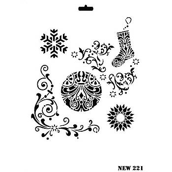 Rich New 221  Stencil (Kolay Boyama Þablonu )