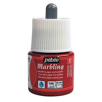 Pebeo M-02 Vermilion Marbling -Ebru Boyasý