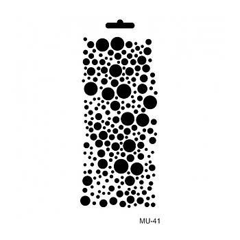 Cadence MU -41 Mix Media  Stencil (Kolay Boyama Þablonu )
