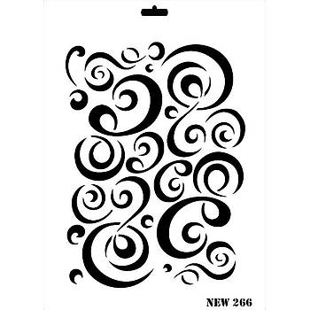 Rich New 266  Stencil (Kolay Boyama Þablonu )