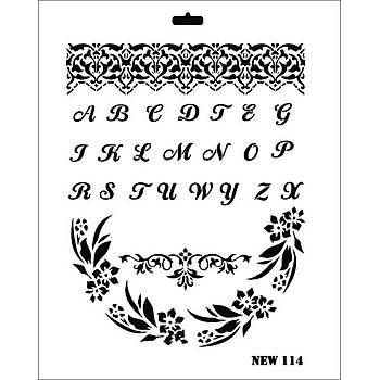 Rich New 114 Stencil (Kolay Boyama Þablonu )