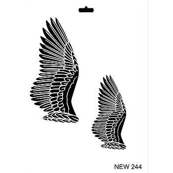 Rich New 244  Stencil (Kolay Boyama Þablonu )