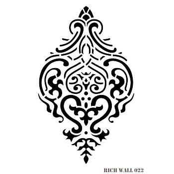 Rich Wall 022 Duvar Desen Stencil (Kolay Boyama Þablonu )