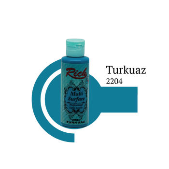 Rich 130 cc 2204 turkuaz Multisurface boya