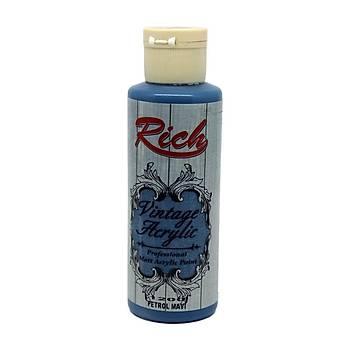 Rich 130 cc 1200 Petrol mavi  Vintage  akrilik boya