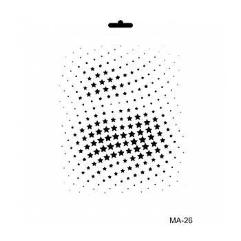 Cadence MA -26 Mix Media  Stencil (Kolay Boyama Þablonu )