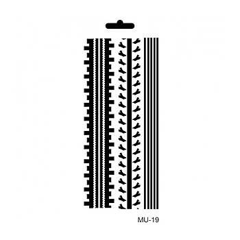 Cadence MU -19 Mix Media  Stencil (Kolay Boyama Þablonu )