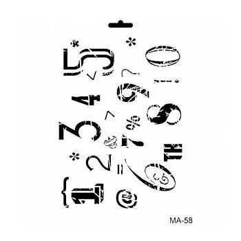 Cadence MA -58 Mix Media  Stencil (Kolay Boyama Þablonu )