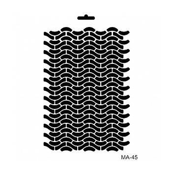 Cadence MA -45 Mix Media  Stencil (Kolay Boyama Þablonu )
