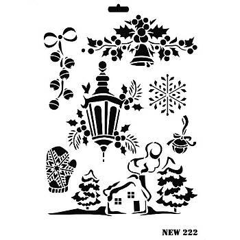 Rich New 222  Stencil (Kolay Boyama Þablonu )
