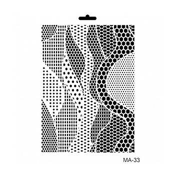 Cadence MA -33 Mix Media  Stencil (Kolay Boyama Þablonu )