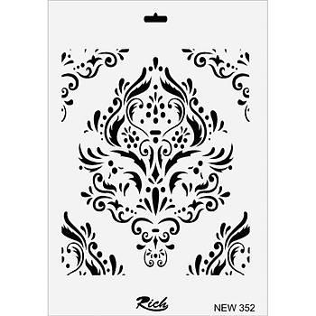 Rich New 352 Stencil (Kolay Boyama Þablonu )