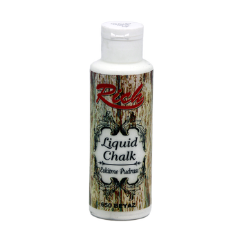 Rich 130 cc 650 Beyaz eskitme pudrasý (Liquid chalk )