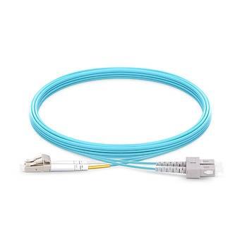 LC-SC Fiber Patch Cord OM3 Duplex, 5 Metre