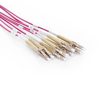 MTP to 6xLC Duplex 12 Fiber OM4 Multimode Patch Cord