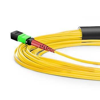 MPO to 4xLC Duplex 8 Fiber OS2 Singlemode Patch Cord