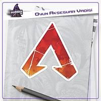 Apex Legends Kýrmýzý Parçalý Logo Sticker (2 adet)