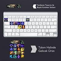 Zed: Klavye Sticker Set