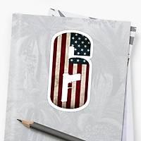 R6 : American Logo Sticker (2 adet)