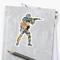CS:GO Logo Sticker (2 adet)