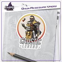 Apex Legends Caustic Logolu Sticker (2 adet)