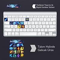 Nunu ve Willump: Klavye Sticker Set