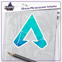 Apex Legends Mavi Parçalý Logo Sticker (2 adet)