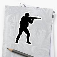 CS:GO Logo Sticker (2 adet)
