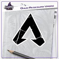 Apex Legends Siyah Parçalý Logo Sticker (2 adet)
