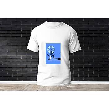 Sova Baskýlý Model 19  T-Shirt