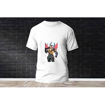 Breach Baskýlý Model 9  T-Shirt