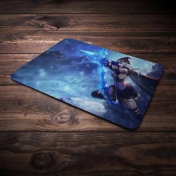 League Of Legens Ashe Þampiyon Baskýlý Mousepad (BÜYÜK GAMEPAD)