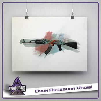 AK-47 | Akuamarin Ýntikam: Poster