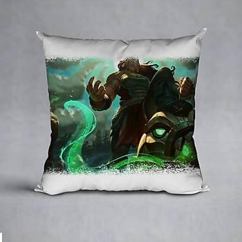 League Of Legends Illaoi Baskýlý Yastýk (ELYAF DOLGULU)