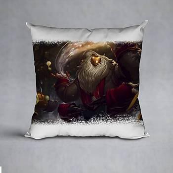 League Of Legends Bard Baskýlý Yastýk (ELYAF DOLGULU)