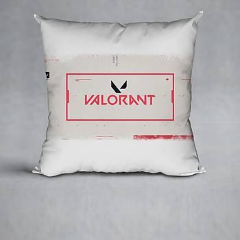Valorant Model 10 Baskýlý Yastýk (Elyaf Dolgulu)