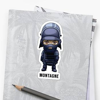 R6 : Montagne Sticker (2 adet)