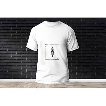 Jett Baskýlý Model 10  T-Shirt