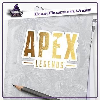 Apex Legends Sarý Logolu Sticker (2 adet)